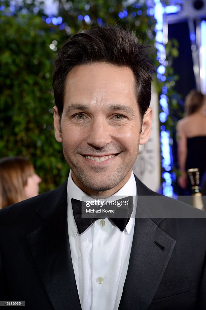 Actor <a gi-track='captionPersonalityLinkClicked' href=/galleries/search?phrase=Paul+Rudd&family=editorial&specificpeople=209014 ng-click='$event.stopPropagation()'>Paul Rudd</a> attends the 72nd Annual Golden Globe Awards at The Beverly Hilton Hotel on January 11, 2015 in Beverly Hills, California.