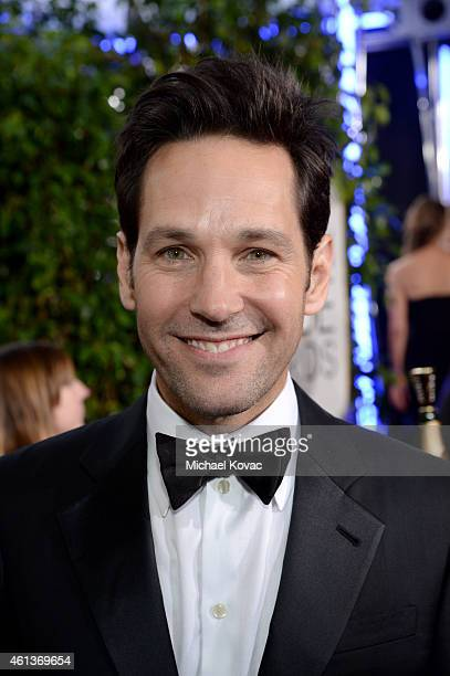 Actor Paul Rudd attends the 72nd Annual Golden Globe Awards at The Beverly Hilton Hotel on January 11 2015 in Beverly Hills California
