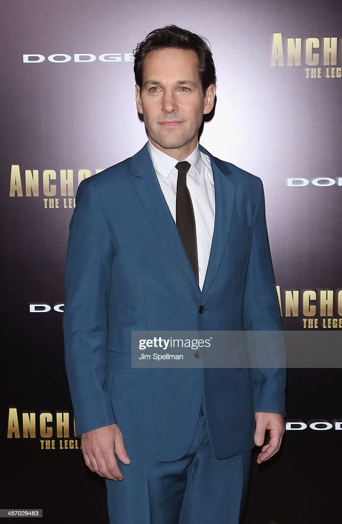 Actor <a gi-track='captionPersonalityLinkClicked' href=/galleries/search?phrase=Paul+Rudd&family=editorial&specificpeople=209014 ng-click='$event.stopPropagation()'>Paul Rudd</a> attends the 'Anchorman 2: The Legend Continues' U.S. premiere at Beacon Theatre on December 15, 2013 in New York City.