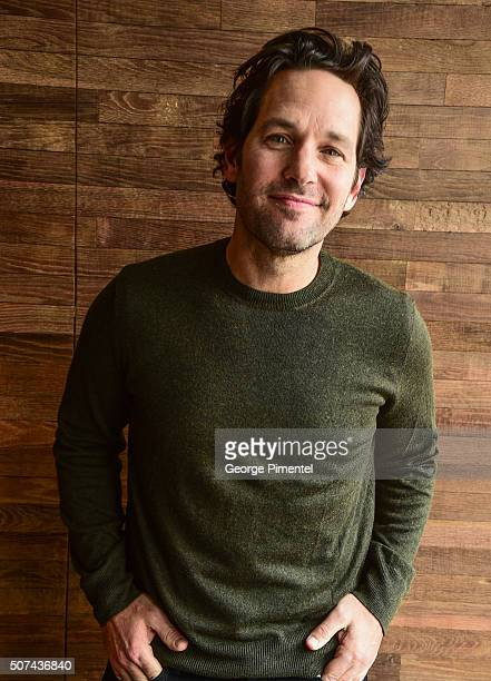 Actor Paul Rudd attends 'The Fundamentals Of Caring' Portraits during the 2016 Sundance Film Festival at Acura Studio on January 29 2016 in Park City...