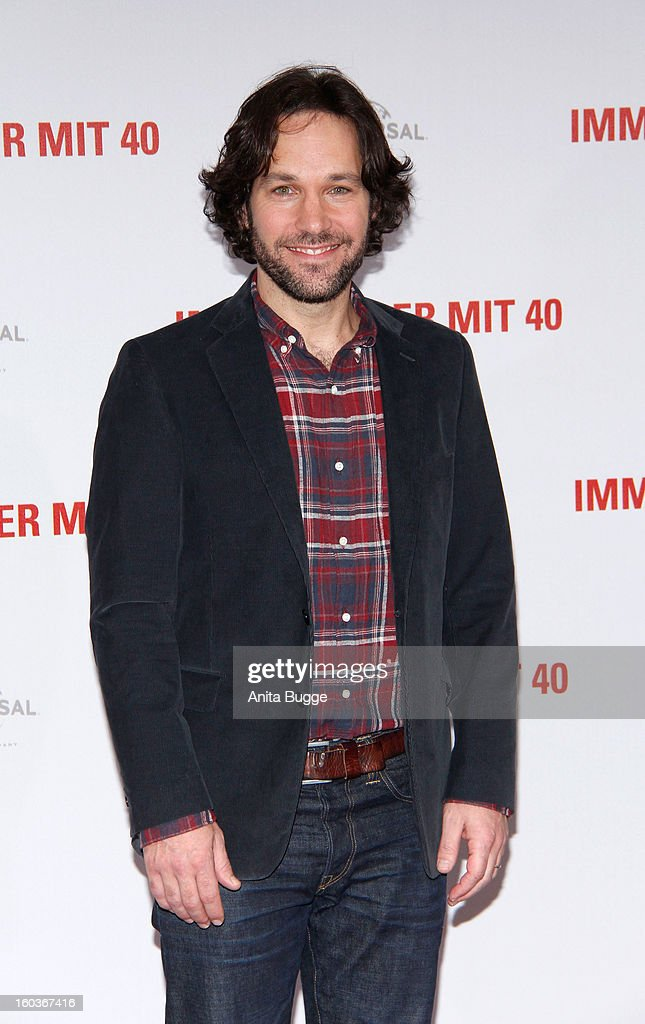 Actor Paul Rudd attends the 'Immer Aerger mit 40' Berlin photocall at Hotel Adlon on January 30, 2013 in Berlin, Germany.