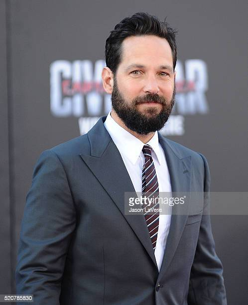 Actor Paul Rudd attends the premiere of 'Captain America Civil War' at Dolby Theatre on April 12 2016 in Hollywood California