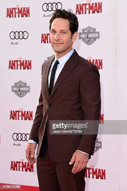 Actor Paul Rudd attends the premiere of Marvel's 'AntMan' at the Dolby Theatre on June 29 2015 in Hollywood California