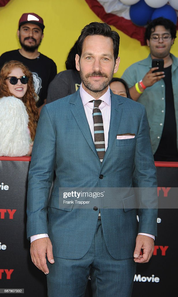 Actor Paul Rudd attends the premiere of Sony's 'Sausage Party' held at the Regency Village Theater on August 9 2016 in Westwood California
