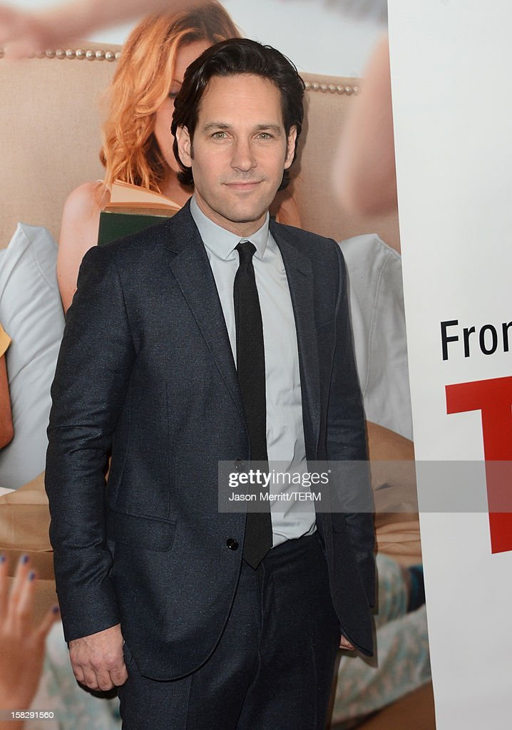 Actor <a gi-track='captionPersonalityLinkClicked' href=/galleries/search?phrase=Paul+Rudd&family=editorial&specificpeople=209014 ng-click='$event.stopPropagation()'>Paul Rudd</a> attends the premiere Of Universal Pictures' 'This Is 40' at Grauman's Chinese Theatre on December 12, 2012 in Hollywood, California.
