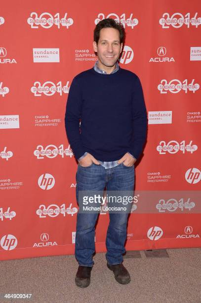 Actor Paul Rudd attends the 'They Came Together' premiere at Eccles Center Theatre during the 2014 Sundance Film Festival on January 24 2014 in Park...