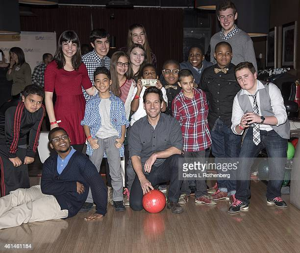 Actor Paul Rudd attends the Third Annual Paul Rudd AllStar Bowling Benefit at Lucky Strike Lanes Lounge on January 12 2015 in New York City