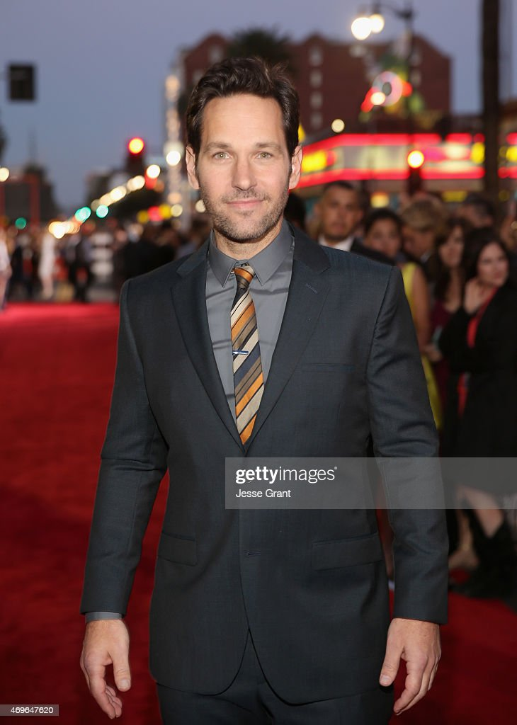 Actor <a gi-track='captionPersonalityLinkClicked' href=/galleries/search?phrase=Paul+Rudd&family=editorial&specificpeople=209014 ng-click='$event.stopPropagation()'>Paul Rudd</a> attends the world premiere of Marvel's 'Avengers: Age Of Ultron' at the Dolby Theatre on April 13, 2015 in Hollywood, California.