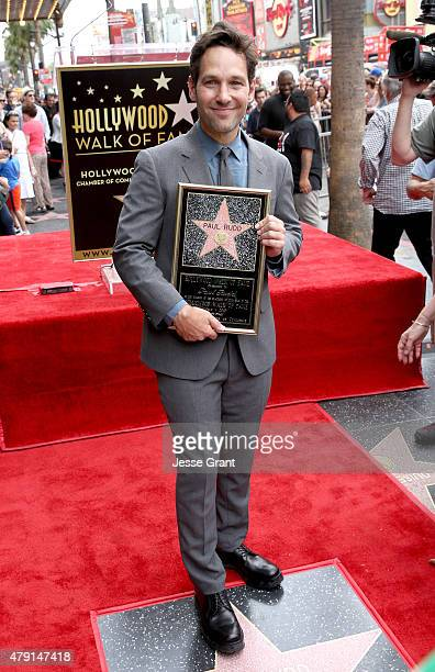 Actor Paul Rudd honored with a Star on The Hollywood Walk of Fame on July 1 2015 in Hollywood California