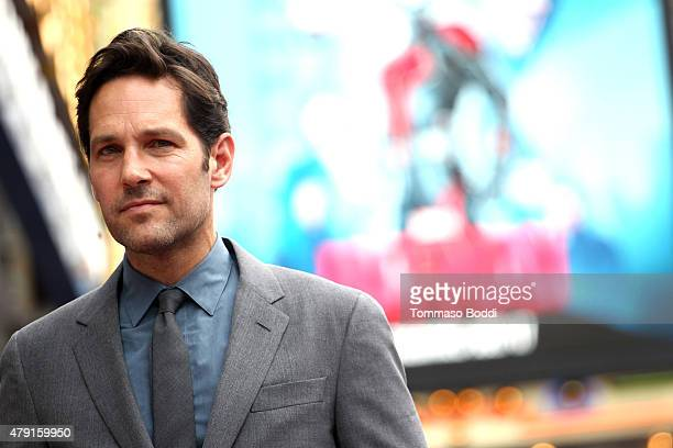 Actor Paul Rudd is honored with a star on The Hollywood Walk of Fame on July 1 2015 in Hollywood California