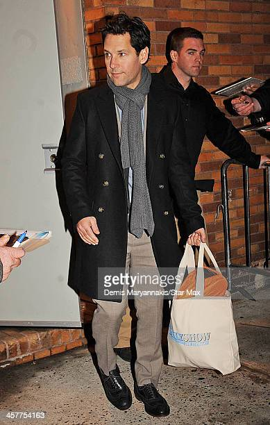 Actor Paul Rudd is seen on December 18 2013 in New York City