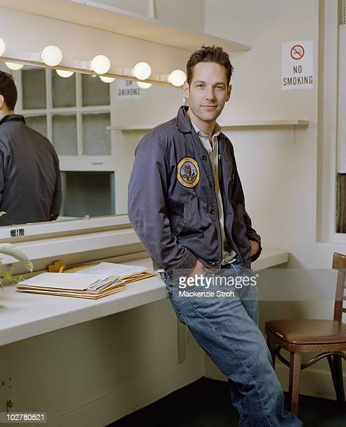 Actor Paul Rudd poses at a shoot for Life Magazine in 2006 in New York City