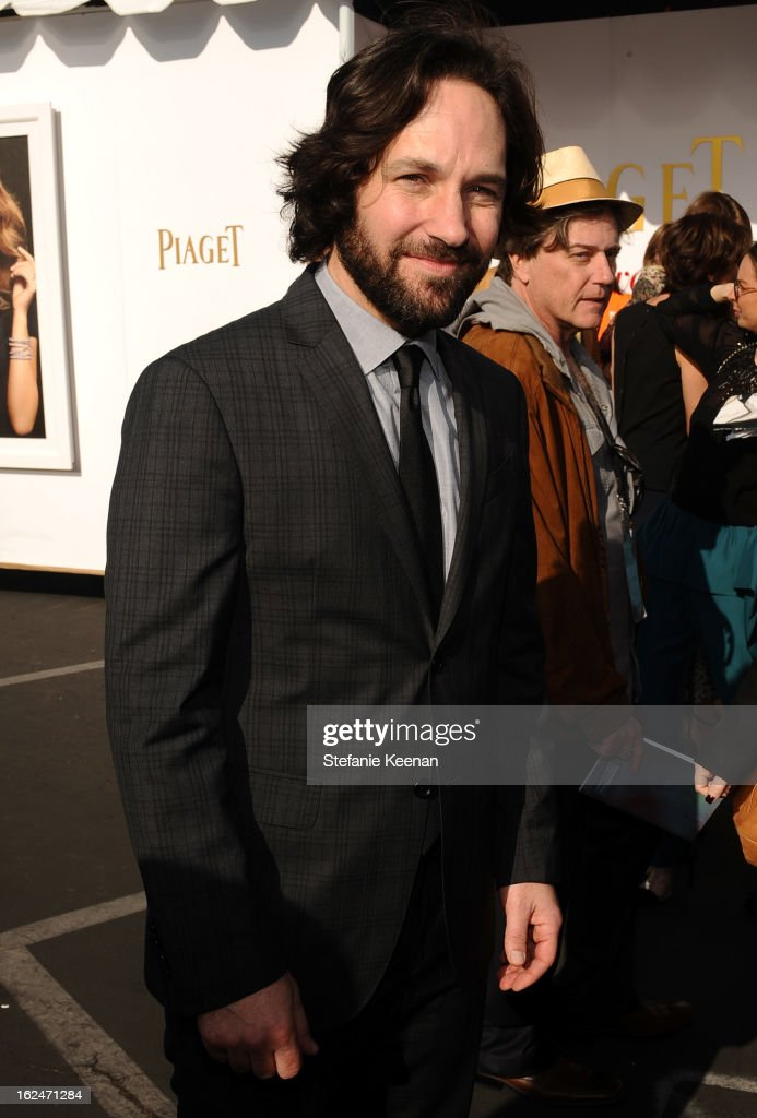 Actor Paul Rudd poses in the Piaget Lounge during The 2013 Film Independent Spirit Awards on February 23, 2013 in Santa Monica, California.
