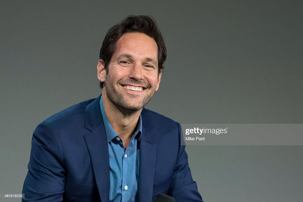 Actor <a gi-track='captionPersonalityLinkClicked' href=/galleries/search?phrase=Paul+Rudd&family=editorial&specificpeople=209014 ng-click='$event.stopPropagation()'>Paul Rudd</a> speaks about his latest movie 'Ant Man' at Apple Store Soho on July 16, 2015 in New York City.