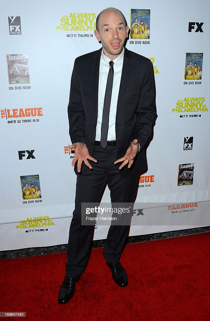 Actor Paul Scheer arrives at the Premiere Screenings of FX's 'It's Always Sunny In Philadelphia' Season 8 And 'The League' Season 4 -at ArcLight Cinemas Cinerama Dome on October 9, 2012 in Hollywood, California.