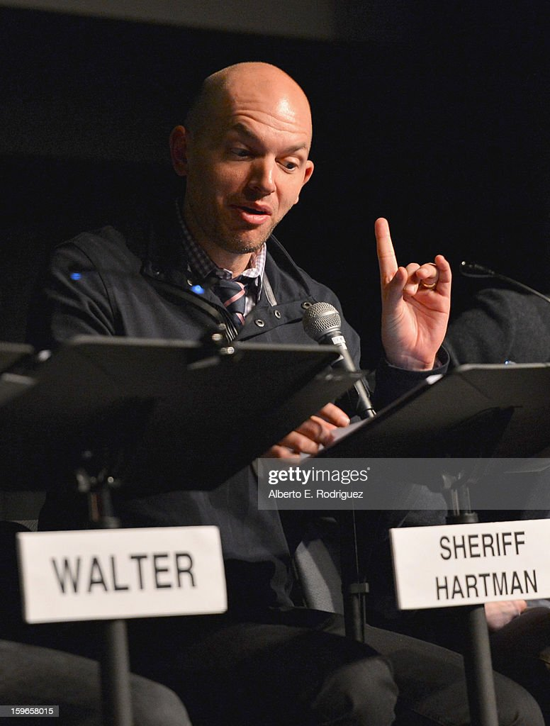 Actor <a gi-track='captionPersonalityLinkClicked' href=/galleries/search?phrase=Paul+Scheer&family=editorial&specificpeople=805513 ng-click='$event.stopPropagation()'>Paul Scheer</a> attends a Film Independent live read at Bing Theatre At LACMA on January 17, 2013 in Los Angeles, California.