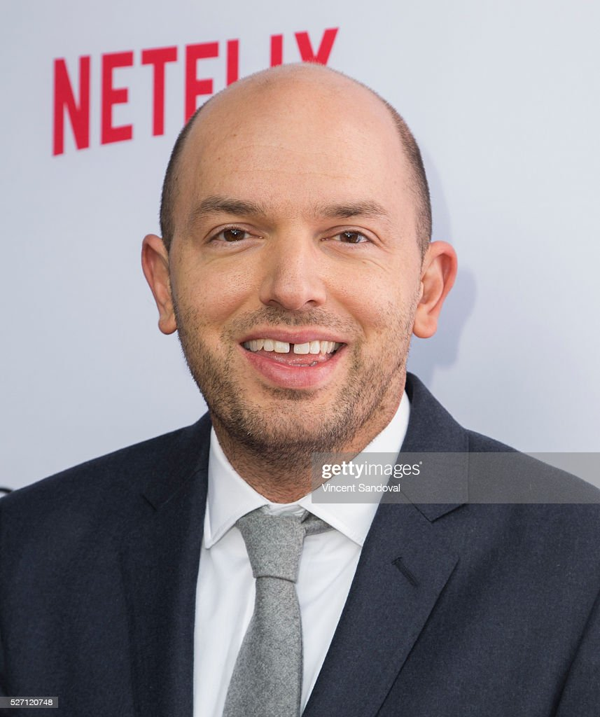Actor <a gi-track='captionPersonalityLinkClicked' href=/galleries/search?phrase=Paul+Scheer&family=editorial&specificpeople=805513 ng-click='$event.stopPropagation()'>Paul Scheer</a> attends Netflix Original Series 'Grace & Frankie' season 2 premiere at Harmony Gold on May 1, 2016 in Los Angeles, California.