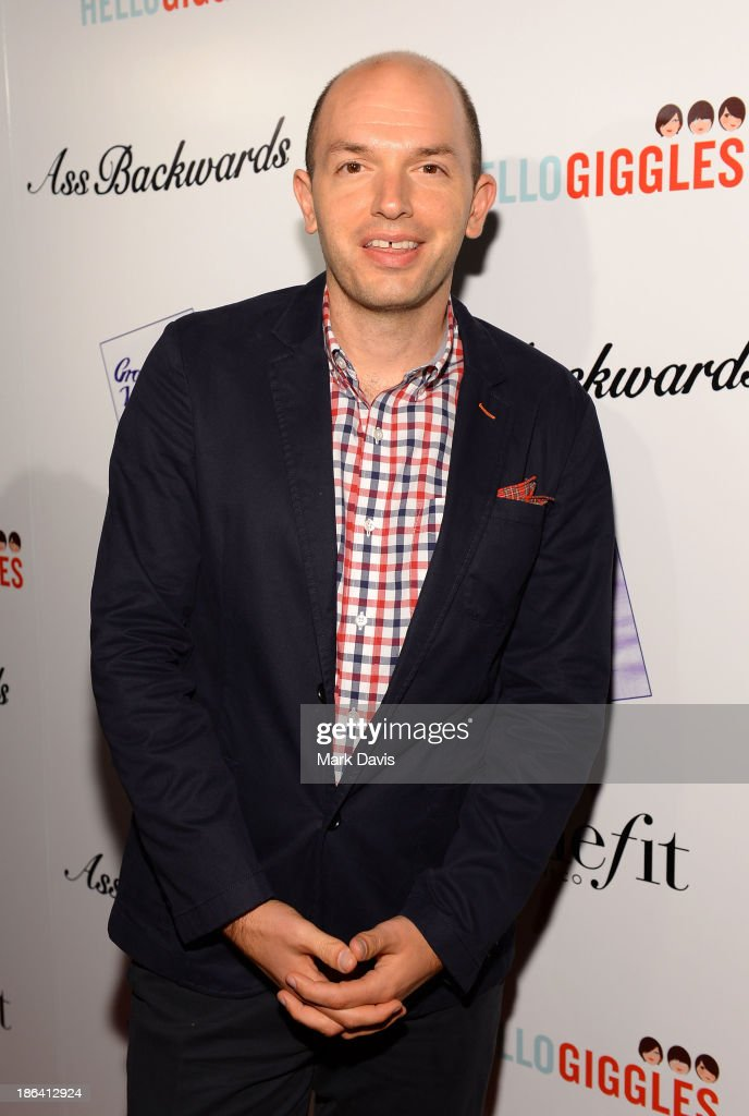 Actor <a gi-track='captionPersonalityLinkClicked' href=/galleries/search?phrase=Paul+Scheer&family=editorial&specificpeople=805513 ng-click='$event.stopPropagation()'>Paul Scheer</a> attends the premiere of Gravitas Ventures' 'Ass Backwards' at the Vista Theatre on October 30, 2013 in Los Angeles, California.