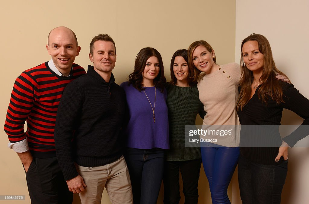Actor Paul Scheer, writer/director Chris Nelson, actress Casey Wilson, producer Elysa Koplovitz, actress June Diane Raphael and producre Heather Rae pose for a portrait during the 2013 Sundance Film Festival at the Getty Images Portrait Studio at Village at the Lift on January 21, 2013 in Park City, Utah.