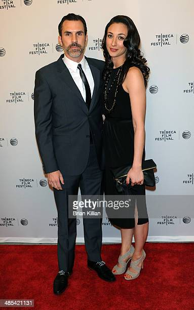 Actor Paul Schneider and guest attend 'Goodbye To All That' screening during the 2014 Tribeca Film Festival at SVA Theater on April 17 2014 in New...