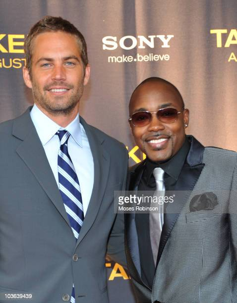 Actor Paul Walker and producer Will Packer attend the 'Takers' premiere at Regal Atlantic Station on August 24 2010 in Atlanta Georgia