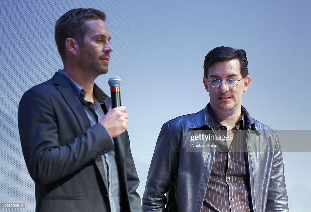 Actor <a gi-track='captionPersonalityLinkClicked' href=/galleries/search?phrase=Paul+Walker+-+Actor&family=editorial&specificpeople=206607 ng-click='$event.stopPropagation()'>Paul Walker</a> and writer/director Eric Heisserer speak onstage at the 'Hours' Q&A during the 2013 SXSW Music, Film + Interactive Festival at Topfer Theatre at ZACH on March 10, 2013 in Austin, Texas.