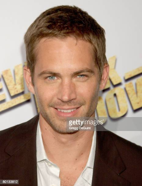 Actor Paul Walker arrives at the 'Never Back Down' premiere at the Cinerama Dome on March 4 2008 in Hollywood California