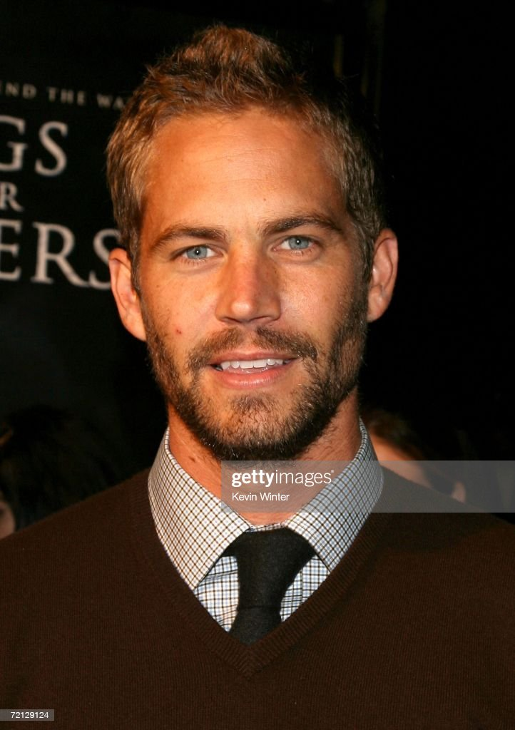 Actor Paul Walker arrives at the Paramount Pictures premiere of 'Flags Of Our Fathers' held at the Academy of Motion Picture Arts and Sciences on...