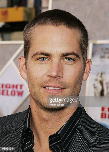 Actor Paul Walker poses at the premiere of Disney's 'Eight Below' at the El Capitan Theater on February 12 2006 in Los Angeles California