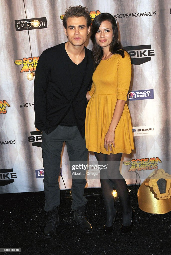 Actor Paul Wesley and actress Torrey DeVitto arrives at Spike TV's 'Scream Awards 2011' at Universal Studios Backlot on October 15, 2011 in Universal City, California.