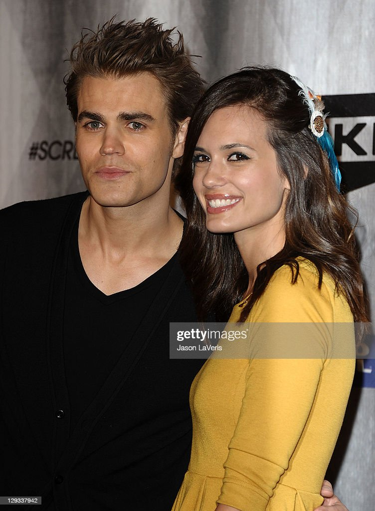 Actor Paul Wesley and actress Torrey DeVitto attend Spike TV's 2011 Scream Awards at Gibson Amphitheatre on October 15, 2011 in Universal City, California.