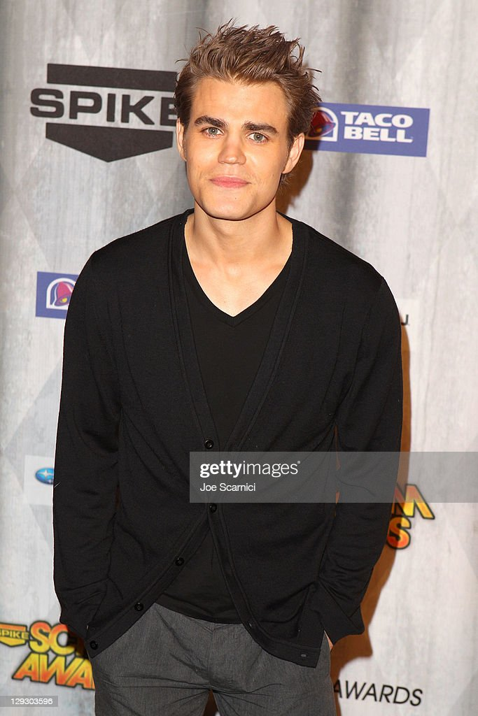 Actor <a gi-track='captionPersonalityLinkClicked' href=/galleries/search?phrase=Paul+Wesley&family=editorial&specificpeople=693176 ng-click='$event.stopPropagation()'>Paul Wesley</a> arrives at Spike TV's 'SCREAM 2011' awards held at the Universal Studios Backlot on October 15, 2011 in Universal City, California.
