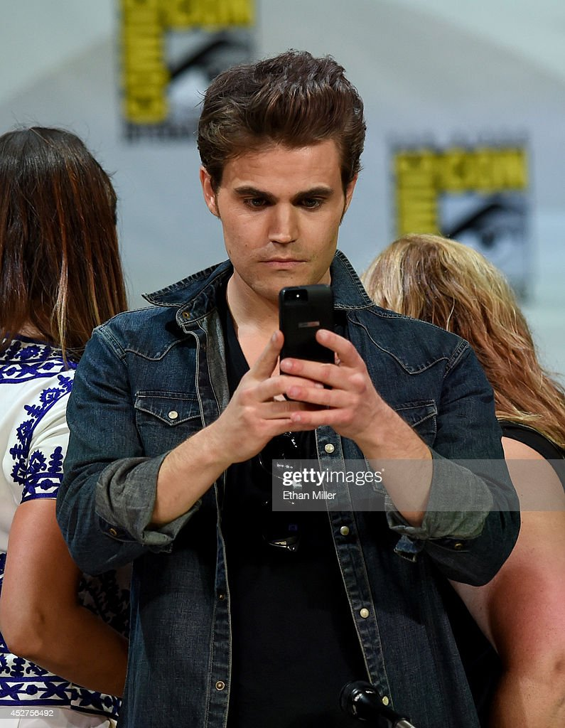 Actor Paul Wesley attends CW's 'The Vampire Diaries' panel during ComicCon International 2014 at the San Diego Convention Center on July 26 2014 in...