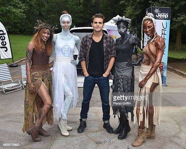 Actor Paul Wesley attends surprise X Ambassadors performance in celebration of the new JEEP Renegade at Grant Park on August 30 2015 in Atlanta...