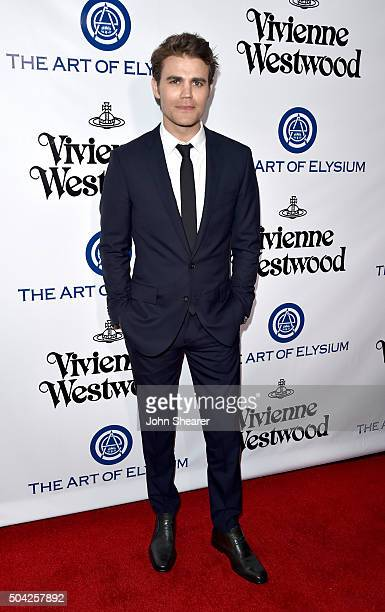 Actor Paul Wesley attends The Art of Elysium 2016 HEAVEN Gala presented by Vivienne Westwood Andreas Kronthaler at 3LABS on January 9 2016 in Culver...