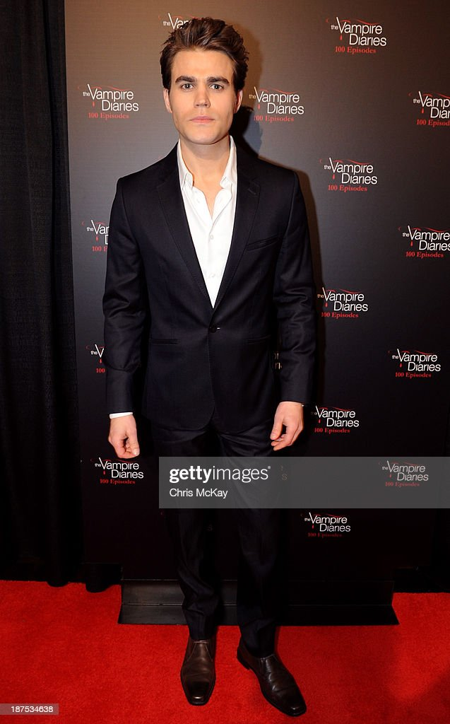 Actor <a gi-track='captionPersonalityLinkClicked' href=/galleries/search?phrase=Paul+Wesley&family=editorial&specificpeople=693176 ng-click='$event.stopPropagation()'>Paul Wesley</a> attends The Vampire Diaries 100th Episode Celebration on November 9, 2013 in Atlanta, Georgia.