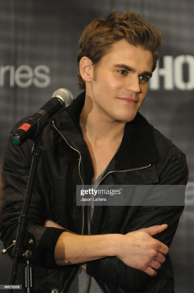 Actor Paul Wesley attends 'The Vampire Diaries' Hot Topic tour at Hot Topic on February 13, 2010 in Canoga Park, California.