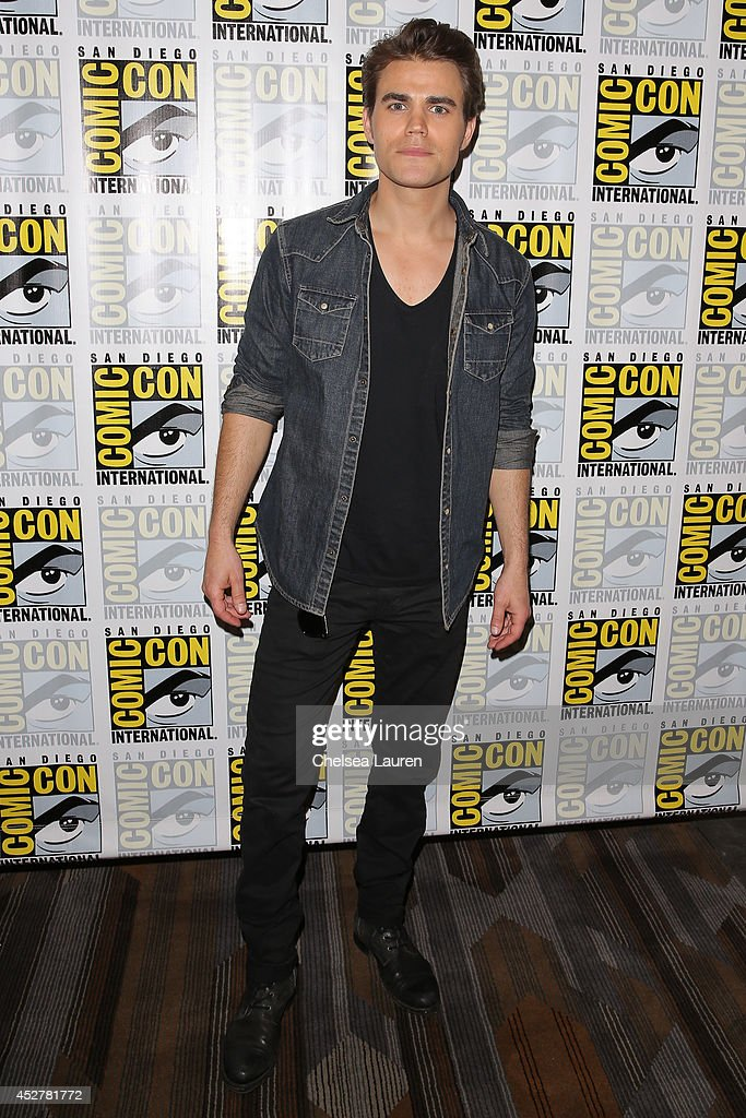 Actor <a gi-track='captionPersonalityLinkClicked' href=/galleries/search?phrase=Paul+Wesley&family=editorial&specificpeople=693176 ng-click='$event.stopPropagation()'>Paul Wesley</a> attends 'The Vampire Diaries' press room at Comic-Con International on July 26, 2014 in San Diego, California.