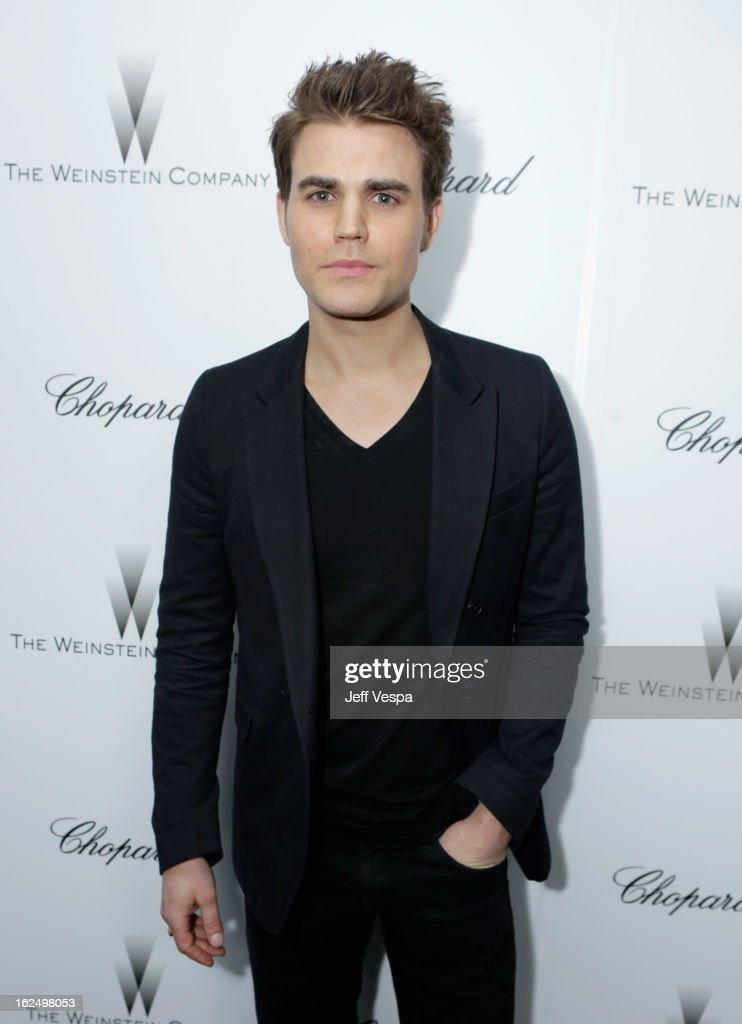 Actor <a gi-track='captionPersonalityLinkClicked' href=/galleries/search?phrase=Paul+Wesley&family=editorial&specificpeople=693176 ng-click='$event.stopPropagation()'>Paul Wesley</a> attends The Weinstein Company Academy Award Party hosted by Chopard at Soho House on February 23, 2013 in West Hollywood, California.