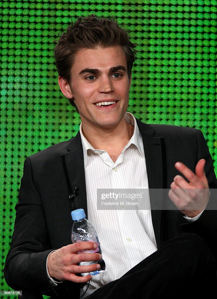 Actor <a gi-track='captionPersonalityLinkClicked' href=/galleries/search?phrase=Paul+Wesley&family=editorial&specificpeople=693176 ng-click='$event.stopPropagation()'>Paul Wesley</a> speaks onstage at the CW 'The Vampire Diaries' Q&A portion of the 2010 Winter TCA Tour day 1 at the Langham Hotel on January 9, 2010 in Pasadena, California.