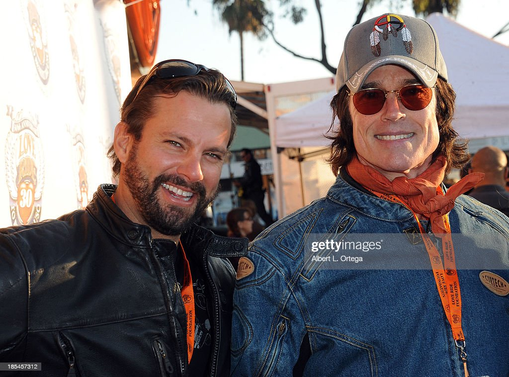 Actor Paulo Benedeti and actor Ron Moss participate in the 30th Anniversary Love Ride held at Glendale Harley-Davidson on October 20, 2013 in Glendale, California.