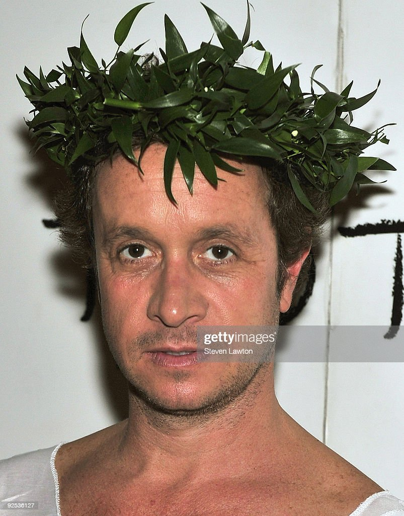 Actor Pauly Shore arrives in a toga for the red carpet at TAO Nightclub at the Venetian on October 15 2009 in Las Vegas Nevada
