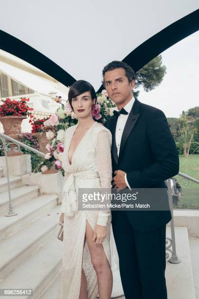 Actor Paz Vega and Orson Salazar are photographed for Paris Match whilst attending the Amfar Gala at the Eden Roc Hotel on May 25 2017 in Antibes...