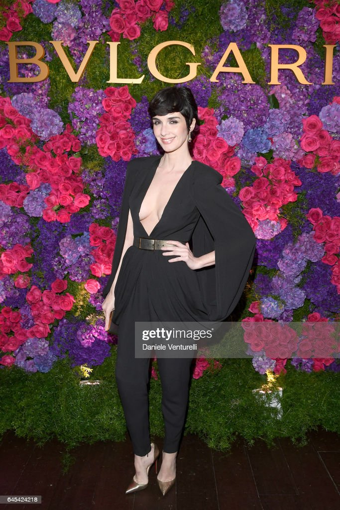 Actor Paz Vega attends Bulgari's Pre-Oscar Dinner at Chateau Marmont on February 25, 2017 in Hollywood, United States.