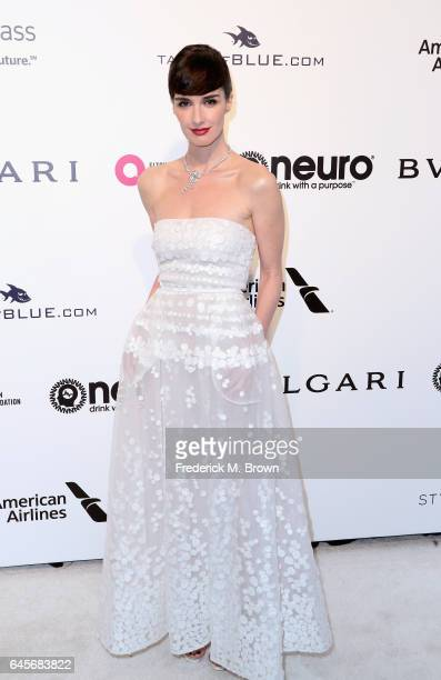 Actor Paz Vega attends the 25th Annual Elton John AIDS Foundation's Academy Awards Viewing Party at The City of West Hollywood Park on February 26...