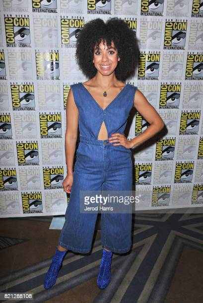 Actor Pearl Mackie at BBC AMERICA'S San Diego ComicCon Press Line with the Stars and Producers of 'Dirk Gently's Holistic Detective Agency' and...