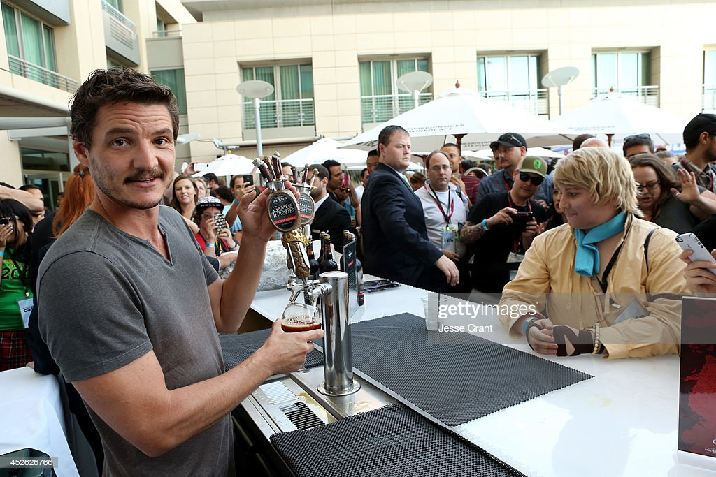 Actor <a gi-track='captionPersonalityLinkClicked' href=/galleries/search?phrase=Pedro+Pascal&family=editorial&specificpeople=776584 ng-click='$event.stopPropagation()'>Pedro Pascal</a> attends day 1 of the WIRED Cafe @ Comic Con at Omni Hotel on July 24, 2014 in San Diego, California.