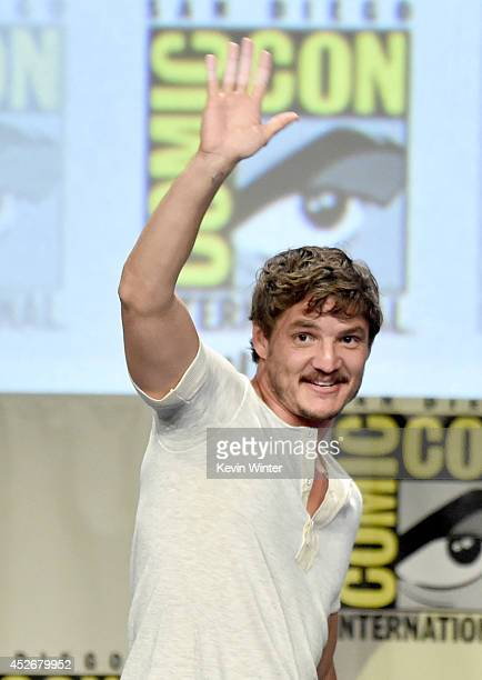 Actor Pedro Pascal attends HBO's 'Game Of Thrones' panel and QA during ComicCon International 2014 at San Diego Convention Center on July 25 2014 in...