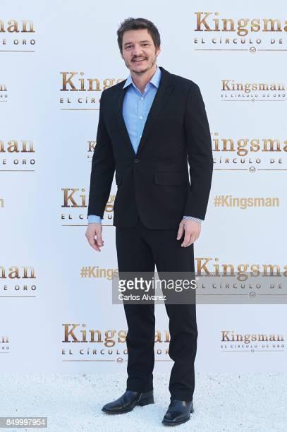 Actor Pedro Pascal attends 'Kingsman El Circulo De Oro' photocall at the Palacio de los Duques Hotel on September 20 2017 in Madrid Spain