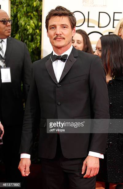 Actor Pedro Pascal attends the 72nd Annual Golden Globe Awards at The Beverly Hilton Hotel on January 11 2015 in Beverly Hills California
